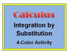 This is a matching activity that supports integration by substitution in a calculus course. It is especially suitable for an AP AB Calculus course.