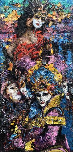 """Venetian Dreams"" 58x28, 2012.(SOLD)"