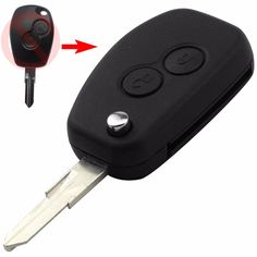 5.74$  Buy now - http://ali8kj.shopchina.info/go.php?t=32799428611 - with Sticker VAC102 Modified Key Shell For Renault Renault Dacia Modus Logan Clio Espace 2Button Flip Folding Remote Fob Case 5.74$ #aliexpress
