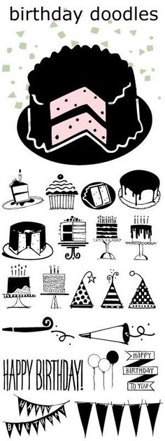Birthday Doodles font.... great for cards, invitations, and scrapbooking all your parties.