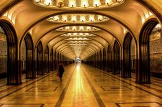 The stunning #Moscow #Metro.