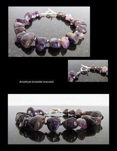 Amethyst briolette bracelet
