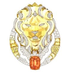 One of Chanel's haute lion Brooches