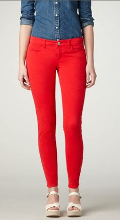 love these red jeggings from American Eagle $44.50