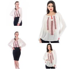 So in love with this romanian style Bell Sleeves, Bell Sleeve Top, Embroidered Blouse, Embroidery, Long Sleeve, Collection, Tops, Women, Style