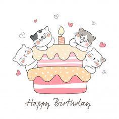 Happy Birthday Drawings, Birthday Doodle, Happy Birthday Art, Birthday Card Drawing, Happy Birthday Posters, Happy Birthday Wishes Cards, Bday Cards, Happy Birthday Images, Birthday Photos