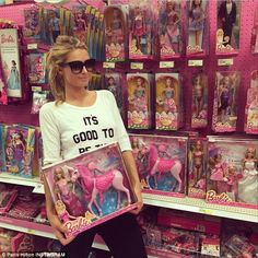 A Barbie world: On Thursday Paris Hilton stopped by Target to pick up a pink Barbie unicorn, proving that even though she is a business mogul and avid jet-setter, there is still a little girl inside of her