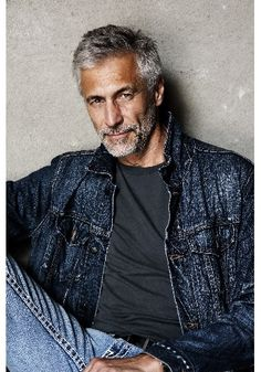 Handsome Gray Haired Man.