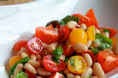 Cannellini Bean Salad with Heirloom Cherry Tomatoes