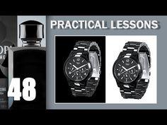 48. ПРАКТИКА. Черные часы на черном фоне - YouTube