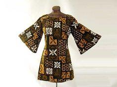 Vintage 60s Hawaiian Dress Cotton Tiki by LilBlackDressVintage, $45.00