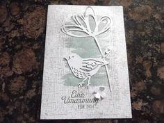 Sconebeker Stempelscheune - Stampin up Sets : Blühende Worte, Geburtstagskarte, Vogelhochzeit, Perpetual Birthday Calendar,