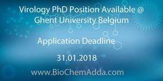Virology PhD Position Available @ Ghent University Belgium