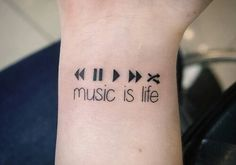 Music is life tatoo