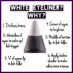 White Eyeliner is a beauty secret with so many uses! Order your Pristine…