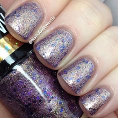 Maybelline Color Show Brocades 'Lavishly Lilac' - 2 coats + topcoat.