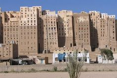 "Shibam in Yemen is often called ""the oldest skyscraper city in the world"" or ""the Manhattan of the desert"", and is one of the oldest and best examples of urban planning based on the principle of vertical construction. The city has some of the tallest mud buildings in the world, with some of them over 30 meters (100 feet) high."