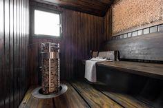 Tyylikäs tummasävyinen sauna - Etuovi.com Sisustus