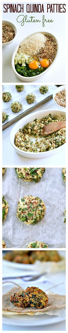 spinach quinoa patty, I'd use some different ingredients but good idea