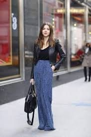 Resultado de imagen para como usar una falda larga en invierno