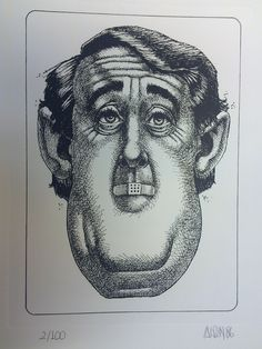 AISLIN Cartoon Brian Mulroney Donated by: Maggie Severs Brian Mulroney, Concordia University, Silent Auction, Cartoon, Cartoons, Comic