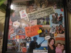 Collage in a Picture Frame Gift: make a collage of their favorite things and memories spent with them