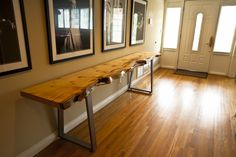 LONG Live Edge Console Table // Blue Stain Pine by Mez Works