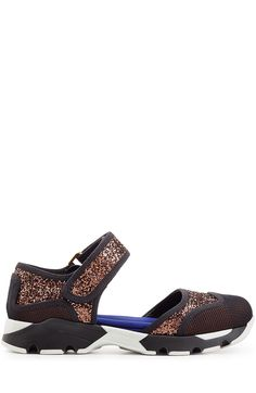 MARNI Leather Sandals With Mesh And Glitter. #marni #shoes #sandals
