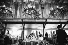 The greens in the chandeliers. Magnolia Plantation Wedding | Southern Weddings | The Wedding Row