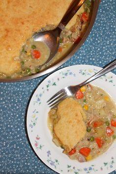 Chicken & Biscuit Skillet Pie