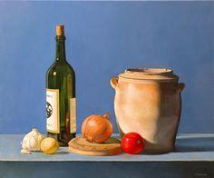 Antoine Cavalier - Peinture hyperrealiste a l huile sur toile 3 -  50x40cm -  La cuisine  - Tableau vendu
