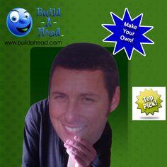 Love the idea of Adam Sandler's face cutout on stick! <3