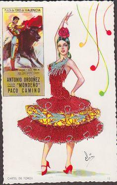 Spanish Dancer postcard | eBay @@@@¡¡¡¡¡........http://www.pinterest.com/madamemort/%2Bspanish-eyes%2B/ €€€€€€€€€€€€€€€€€€€€€€€€€€€€€€€