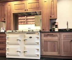 Broad and Turner, hand-made kitchen and furniture makers of Bodmin have installed two incredibly beautiful kitchens in our Wadebridge showroom, making the perfect backdrop to our Everhot cookers. Biomass Boiler, Furniture Makers, Cookers, Beautiful Kitchens, Cornwall, Interior Ideas, Modern Contemporary, Showroom, Stove