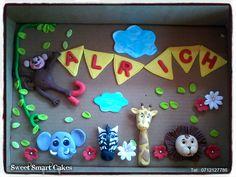 Fondant Safari cake topper set @ R145 For more info & orders, email SweetArtBfn@gmail.com or call 0712127786, WhatsApp 0646446495 Safari Cakes, Edible Cake, Cupcake Toppers, Fondant, Icing, Cake Decorating, Products, Fondant Icing, Gadget