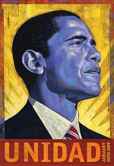 Rafael Lopez. Obama Unidad. Bienal del Cartel Bolivia BICeBé® 2013