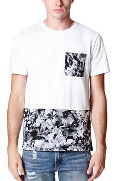 On The Byas Mack Pieced Print Crew T-Shirt #pacsun