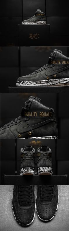 """#NIKE #AIRFORCE1 """"#BLACK #HISTORY #MONTH"""""""