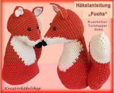 """Häkelanleitung """"Fuchs"""" - Kuscheltier, Türstopper, Deko"""