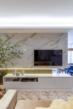 Tv Console Design, Tv Wall Design, Home Room Design, Interior Design Living Room, Modern Tv Wall Units, Living Room Tv Unit Designs, New Home Designs, House Rooms, Luxury Living