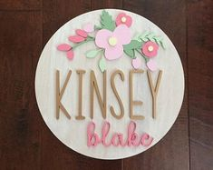 Baby Name Sign Wood Name Sign Nursery Name Sign Baby Shower Gift Nursery Decor Newborn Photography Baby Girl Boy Custom Personalized – baby names Nursery Name, Nursery Signs, Nursery Decor, Nursery Ideas, Wall Decor, Cute Baby Girl Names, Names Baby, Baby Girls, Kid Names