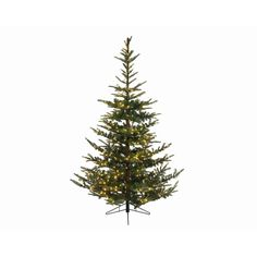 7.5' Green Everlands Nobilis Fir Artificial Christmas Tree with 624 LED Warm Clear Lights with Stand