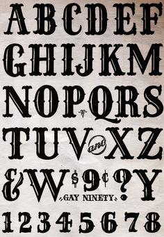 Gay Ninety - Speedball Textbook Graffiti Lettering Fonts, Tattoo Lettering Fonts, Creative Lettering, Lettering Styles, Lettering Design, Tattoo Font Styles, Lettering Tattoo, Calligraphy Fonts Alphabet, Tattoo Fonts Alphabet