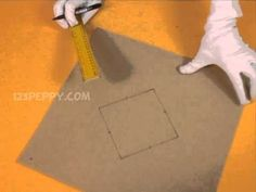 Tutorial on how to make a cardboard pyramid