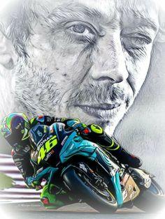 Motogp Valentino Rossi, Valentino Rossi 46, Speed Art, Yamaha Motor, King Of The World, Vr46, 1957 Chevrolet, Car Sketch, Car Wallpapers