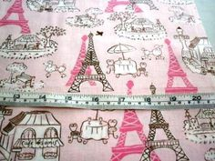 PARIS EIFFEL TOWER VIVE LE FRANCE PINK KAUFMAN COTTON QUILT FABRIC Retro Apron, Paris Eiffel Tower, Cotton Quilts, Crafting, France, Fabric, Pink, Tejido, Tela