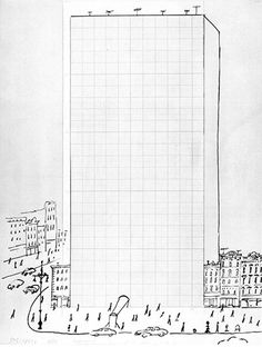 Graph Paper Building (1950) - Saul Steinberg