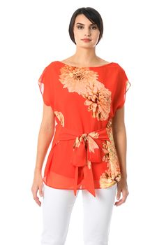With new styles added each day, eShakti is packed with all the latest fashion tops, tunics, shirts and blouses,  -