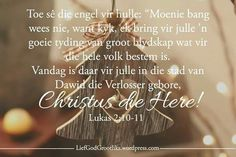 Mag julle feesgety gevul wees met liefde, lag en saamwees en mag elke dag vir julle vreugde bring in die jaar wat voorle Christmas Blessings, Christmas Messages, Christmas Wishes, Christmas Quotes, All Things Christmas, Christmas Time, Positive Thoughts, Deep Thoughts, Bible Verse Wallpaper