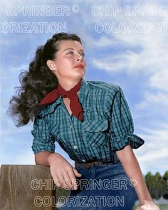 GAIL RUSSELL RELAXING ON THE RANCH BEAUTIFUL COLOR PHOTO BY CHIP SPRINGER. Featured Ebay Listing. Please visit my Ebay Store, Legends of the Silver Screen, at http://legendsofthesilverscreen.com to see the current listings of your favorite Stars now in glorious color! Thanks for looking and check out my Youtube videos at https://www.youtube.com/channel/UCyX926rA5x4seARq5WC8_0w